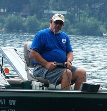 Steve in his boat