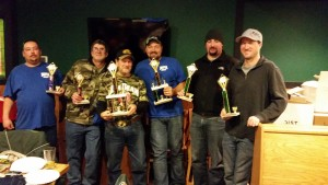 Pat and Larry 3rd,  Brian and Chad 2nd Brock and Dustin 1st place